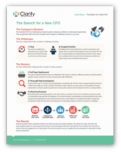 The Search for a new CFO - A Hiring Case Study