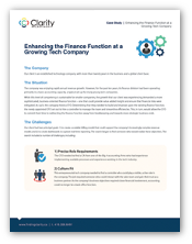 Enhancing the Finance Function at a Growing Tech Company - A Hiring Case Study