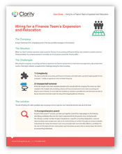 Finding Top Finance Talent During an Expansion or Relocation - A Hiring Case Study