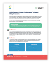 Clarity Labs Research: Performance Traits and Hiring Decisions