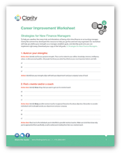 Worksheet: Strategies for New Finance Managers