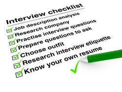 A checklist for acing the second accounting interview.