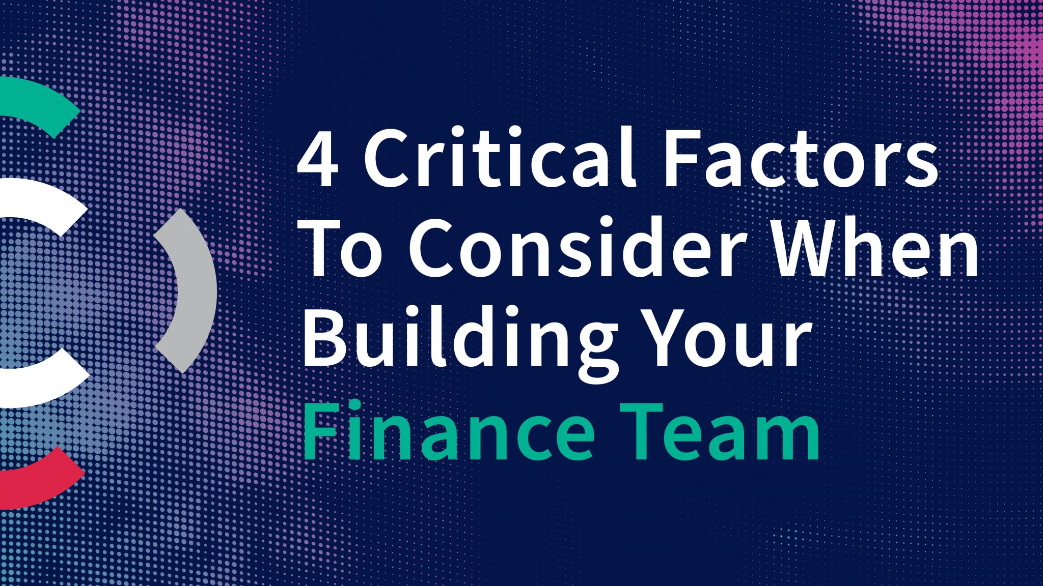 Building Finance Teams, High Growth