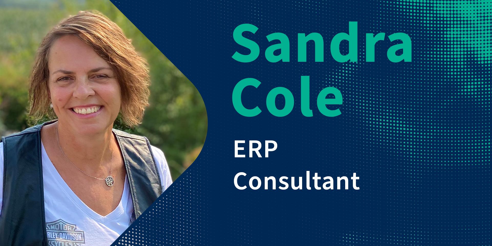 Sandra Cole, ERP Consultant